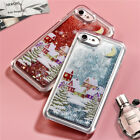 Shockproof Christmas Glitter Quicksand Liquid Case Cover For iPhone 8 6 7 Plus X