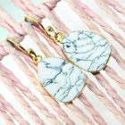 Zj7230 For Sale White Turquoise 24k Gold Plated 1.5'Inch Fashion Earring Jewelry