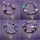 1 European charm bracelet Personalized size 15 mm to 20 mm Ladies child's beads