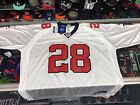 Atlanta Falcons Warrick Dunn NFL Reebok REPLICA White Jersey