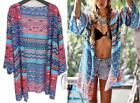 AU STOCK LADIES COTTON OVERSIZE KAFTAN CARDIGAN OPEN TOP BIKINI COVER UP SW056-6