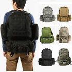 50L Military Tactical Backpack Hiking Camping Travel Outdoor Shoulder Bag LOT HM