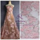 """1 yard Pink 2D lace fabric mixed Polyester embroied dress lace fabric 47"""" width"""