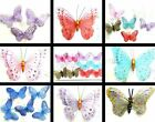 BUTTERFLY MAGNETS PRETTY GLITZY GAUZE GLITTER NET SINGLE OR SETS