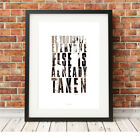Oscar Wilde quote ❤ typography poster art Limited Edition Print in 5 sizes #75