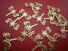 20 Gold alloy dainty dragonfly charms 13 x 14 mm Scrap booking dainty &  thin