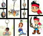 SOFIA THE FIRST LION GUARD JAKE DOC MCSTUFFINS KEYRING CHARM NECKLACE DISNEY JR