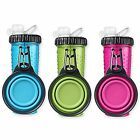 Dexas Popware For Pets H-DuO Dual Chambered Hydration Bottle with Collapsible