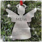 Christmas Decorations Memorial Baubles PERSONALISED Gifts Xmas Tree Mum Dad Nan