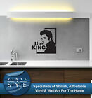 ELVIS PRESLEY THE KING DECOR DECAL STICKER WALL ART WALL GRAPHIC VARIOUS COLOURS