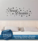 SWEET DREAMS STARS DECOR DECAL STICKER WALL ART GRAPHIC VARIOUS COLOUR
