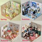 DIY Dollhouse Wooden Lighting House Miniature Kit Furniture Living Room Kid Gift
