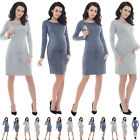 Purpless Maternity 2in1 Pregnancy and Nursing Casual Dress Top with Pocket B6204