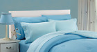 6 Piece Chakras Energetic Embroidered Cotton Blend Sheet Set - LIGHT BLUE