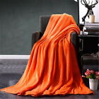 Soft Warm Solid Warm Micro Plush Fleece Blanket Throw Rug Sofa Bedding