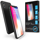 Hybrid 360 Case For Apple iPhone X / 8 & Tempered Glass Screen Protector Cover