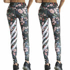 Womens Floral Yoga Fitness Sports Leggings High Waist Gym Workout Pants Trousers