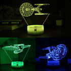 Star Trek USS Enterprise 3D Acrylic LED Night Light Table Desk Lamp Xmas Gift on eBay