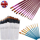 2 TYPES PAINT BRUSH POINTED TIP ARTIST SET PROFESSIONAL QUALITY ART AND CRAFT UK