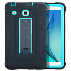 """For Samsung Galaxy Tab E 9.6 8.0"""" Heavy Armor Rubber Shockproof Kid Safe PC Case"""