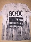 AC/DC BACK IN BLACK 1980 US TOUR Flag album Band VINTAGE Retro MEN'S New T-Shirt image