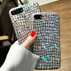 3D Sparkle Matte Ray Glitter Rubber+Leather Grain Case Cover for iPhone 8 Plus X