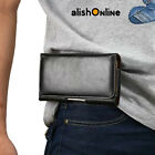 Universal Leather Pouch Belt Case Cover for Samsung Galaxy S6 S7 edge S9 S8 Plus