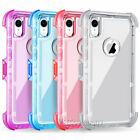 For iPhone X/ XS Max Xr Holster Clip Belt Clear Shockproof Protective Cover Case