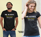 Do Justice Love Mercy Walk Humbly Christian Religious Jesus Christ Bible T shirt