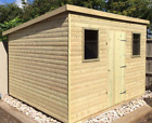 6x4 Heavy Duty Wooden Garden Building Pent Shed Timber Storage Hut Tanalised