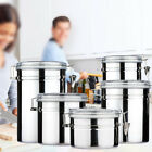 4pcs Stainless Steel Clamp Canister Set Coffee Tea Conister Dry Goods Storage