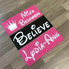 DISNEY Style Personalised Name Plaques Signs Wall Bedroom Door Xmas Gift Present