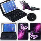 For Amazon Kindle Fire HD 10 10.1 2017 Tablet Leather Case USB Keyboard Cover YW