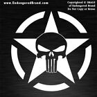 Punisher Army Star in Circle Patriotic USA Flag Sticker Decals