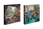Thomas Kinkade Disney Set of 2 or Set of 4 - 14 x 14 Gallery Wrapped Canvases фото