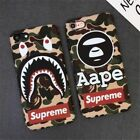 Hot Supreme Bape Army Camouflage Hard Plastic Phone Case Cover Bumper For iPhone