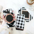 Luxury Grid Bling Shakeproof Stripe Matte Soft TPU Phone Case Back Cover Skin