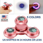 Fidget Spinner LED Light Aluminum  EDC Finger Gyro Focus Toy