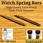 2 mm Thick Watch Strap Spring Bars Pins Double Flange (Telescopic) Sizes 18-40mm