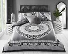 Paisley Mandala Grey Pieridae Luxury Duvet Cover Quilt Reversible Bedding Set UK