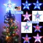 outdoor xmas trees with lights - Xmas Tree Topper Star Light Christmas Outdoor Garden Decor 8 Modes Water Effect