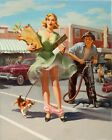 Art Frahm-The Shake-Down, Canvas/Paper Print, Pinup Girl