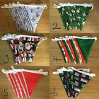 SALE - Double-sided Christmas Cotton Bunting Handmade | 2 For 10 pounds | 7 DAYS