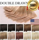 skin weft hair extensions - US 7A Brazilian Tape In 100% Human Hair Extensions 100% Skin Weft Seamless