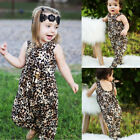 baby stores clothes - Newborn Baby Girls Leopard Harem Romper Playsuit Outfits Clothes Summer US Store