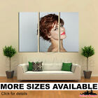 3 Panel Canvas Picture Print - Fashion Hairstyle Make-up Lips M006 3.2