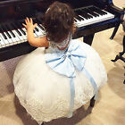 Flower Girl Baby Kids Lace Bowknot Backless Dress Party Gown Formal Dresses Cute