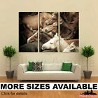 3 Panel Canvas Picture Print - Herd of Wild Horses Close-up M002 3.2
