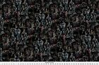Elvis King Of Rock Rock Sgraffito Fabric Printed by Spoonflower BTY