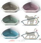 Cat Jumbo Corner Litter Tray With Rim Toilet Pan Box 4 Colours